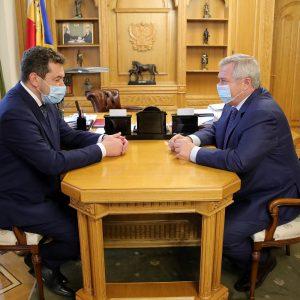 В. Голубев встретился с недавно назначенным руководителем СКЖД